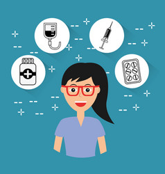 female doctor staff hospital profession medical vector image