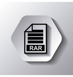 File format button icon vector