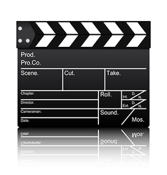 Film slate vector image vector image
