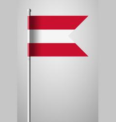 Flag of austria national flag on flagpole vector
