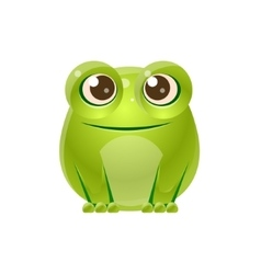 Frog baby animal in girly sweet style vector
