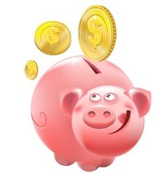 Full Piggy bank vector image vector image