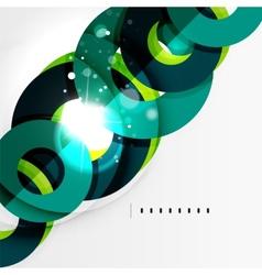 Futuristic geometric shapes minimal design vector image
