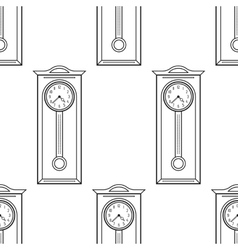 Grandfather clock vintage flat linear object vector