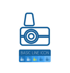 Isolated photographer outline capture vector