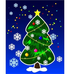 New Years tree vector image vector image