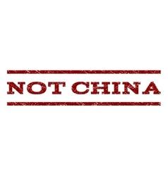 Not china watermark stamp vector