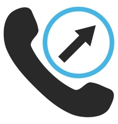 Outgoing call flat pictogram vector