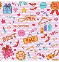 Pattern on theme shopping vector image