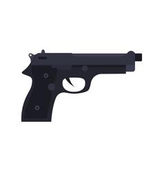 police pistol icon gun handgun weapon isolated vector image vector image