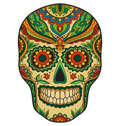 Print mexican traditional scull vector