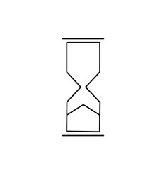 sand clock icon vector image vector image