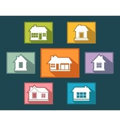 Set colorful cottage buttons vector