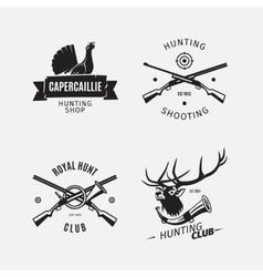 Vintage style hunt club logo vector image