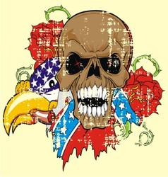VS 5floral skull vector image vector image