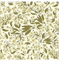 Seamless pattern with handdrawn flowers vector image