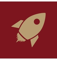 The rocket icon launch and speed symbol flat vector