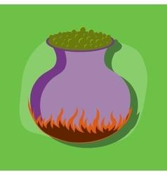 Paper sticker on stylish background potion vector