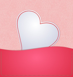 Paper heart background pink vector
