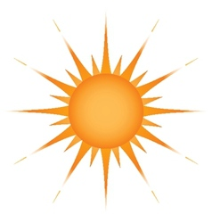 Sun over white - vector