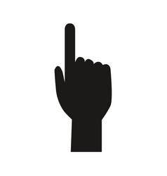 Human hand pointing finger index pictogram vector
