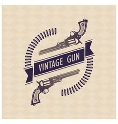 Two retro gun with tape and cartridges vector image