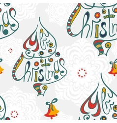 Merry christmas congratulation seamless pattern vector