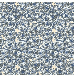 Flower pattern on beige background vector