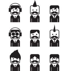Icon portrait vector
