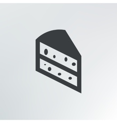 A piece of cake vector