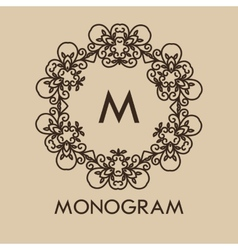 Luxurysimple and elegant monochrome monogram vector