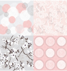Set of seamless floral pattern vector