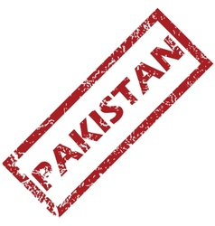 New pakistan rubber stamp vector