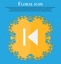 Fast backward floral flat design on a blue vector