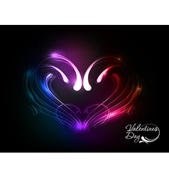 valentines day heart design vector image