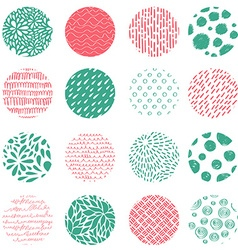 Seamless pattern with hand drawn round textures vector image