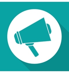 Megaphone design over white background vector