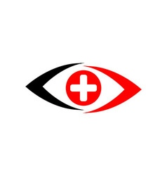 Medical logo icon eyes vector