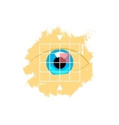 Eye retina scan emblem vector