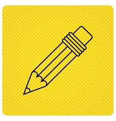 Pencil icon drawing tool sign vector