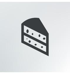 A piece of cake vector