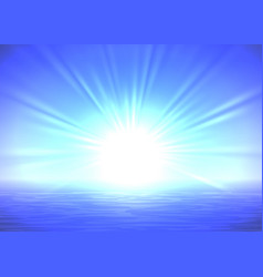 abstract blue sunrise background vector image