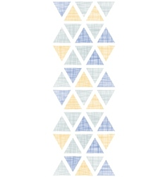 Abstract textile ikat triangles vertical seamless vector image vector image