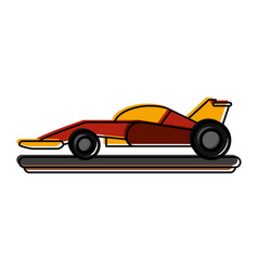 Car racing related icon image vector