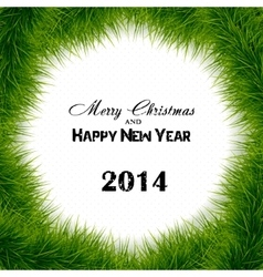 Christmas tree background frame vector image