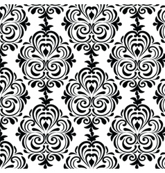 Classic style circular damask pattern vector