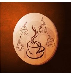 coffee gold coin vector image vector image