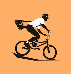 courier bicycle delivery service vector image