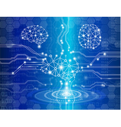 digital brain genius vector image vector image