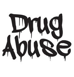 Drug abuse stamp typ vector